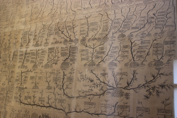A portion of a family tree, beautifully drawn.